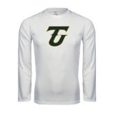 Syntrel Performance White Longsleeve Shirt-Primary Logo