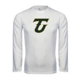 Performance White Longsleeve Shirt-Primary Logo