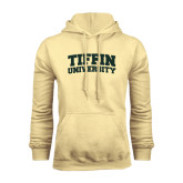 Champion Vegas Gold Fleece Hoodie-Tiffin University Arched and Stacked