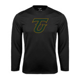 Syntrel Performance Black Longsleeve Shirt-Primary Logo