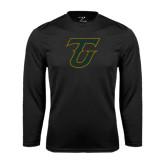 Performance Black Longsleeve Shirt-Primary Logo