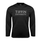 Performance Black Longsleeve Shirt-Tiffin University