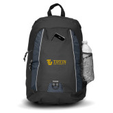 Impulse Black Backpack-TU with Tiffin Universrity Horizontal