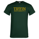 Dark Green T Shirt-Tiffin University