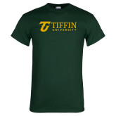 Dark Green T Shirt-Athletic TU Tiffin University Horizontal