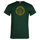Dark Green T Shirt-University Seal