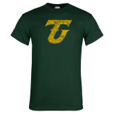 Dark Green T Shirt-Athletic TU Distressed