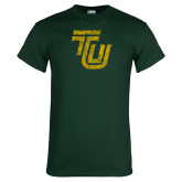 Dark Green T Shirt-TU Distressed