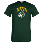 Dark Green T Shirt-Tiffin Arched over Dragon Head