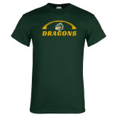 Dark Green T Shirt-Dragons Football