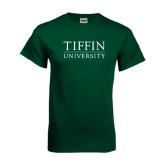 Dark Green T Shirt-Tiffin University
