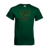 Dark Green T Shirt-Primary Logo Distressed