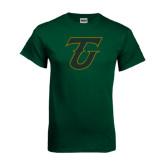 Dark Green T Shirt-Primary Logo Distressed
