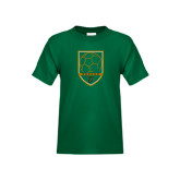 Youth Dark Green T Shirt-Soccer Shield