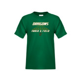 Youth Dark Green T Shirt-Track Lanes