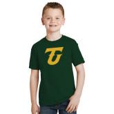 Youth Dark Green T Shirt-Athletic TU