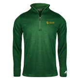 Russell Dark Green Heather 1/4 Zip-TU with Tiffin Universrity Horizontal