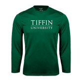Syntrel Performance Dark Green Longsleeve Shirt-Tiffin University