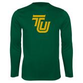 Performance Dark Green Longsleeve Shirt-University TU