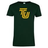 Ladies Dark Green T Shirt-University TU
