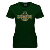Ladies Dark Green T Shirt-Homecoming 2016