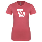 Next Level Ladies SoftStyle Junior Fitted Pink Tee-University TU
