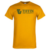 Gold T Shirt-TU with Tiffin Universrity Horizontal