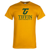 Gold T Shirt-Athletic TU Tiffin University Vertical