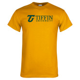 Gold T Shirt-Athletic TU Tiffin University Horizontal