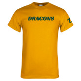 Gold T Shirt-Dragons Wordmark