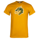 Gold T Shirt-Dragon Head Distressed