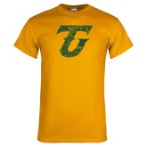 Gold T Shirt-Athletic TU Distressed