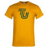Gold T Shirt-TU Distressed