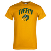 Gold T Shirt-Tiffin Arched over Dragon Head