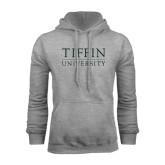 Grey Fleece Hoodie-Tiffin University