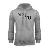 Grey Fleece Hoodie-You and TU