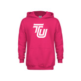 Youth Raspberry Fleece Hoodie-University TU