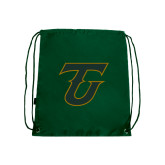 Dark Green Drawstring Backpack-Primary Logo