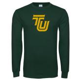 Dark Green Long Sleeve T Shirt-University TU