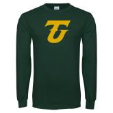 Dark Green Long Sleeve T Shirt-Athletic TU