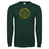 Dark Green Long Sleeve T Shirt-University Seal