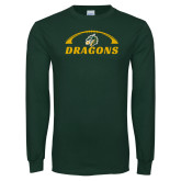 Dark Green Long Sleeve T Shirt-Dragons Football