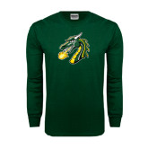 Dark Green Long Sleeve T Shirt-Dragon