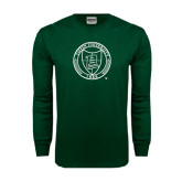 Dark Green Long Sleeve T Shirt-Seal