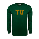 Dark Green Long Sleeve T Shirt-Tiffin University
