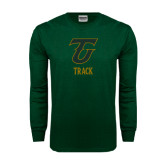 Dark Green Long Sleeve T Shirt-Track