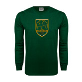 Dark Green Long Sleeve T Shirt-Soccer Shield
