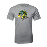 Grey T Shirt-Dragon with Text