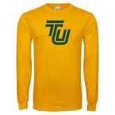 Gold Long Sleeve T Shirt-University TU