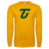 Gold Long Sleeve T Shirt-Athletic TU